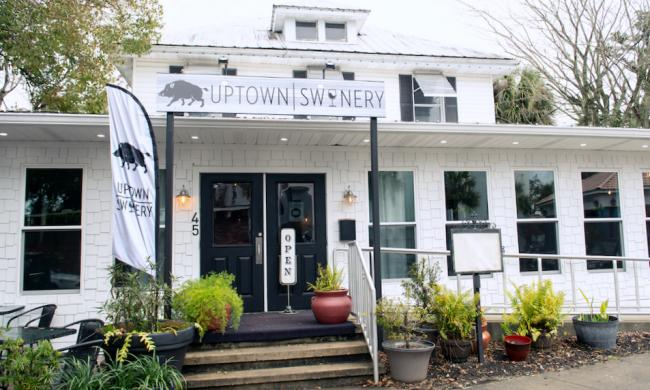 The entrance to Uptown Swinery on San Marco in St. Augustine.