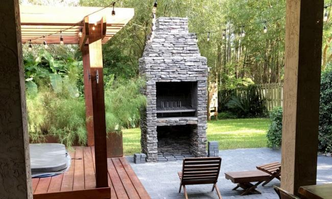 A grill from Urban Asado installed in a home in St. Augustine.