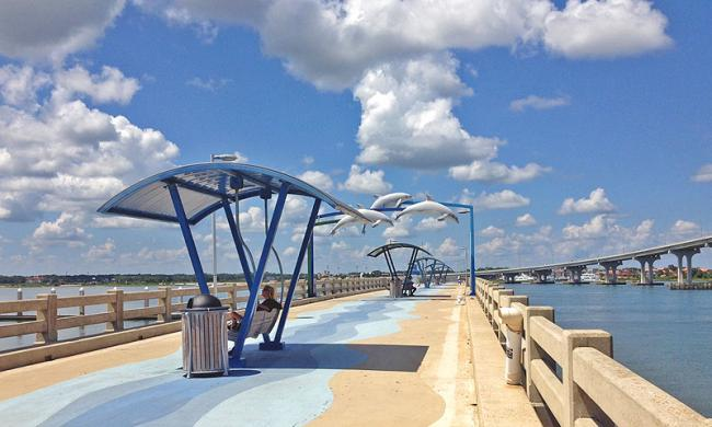 Vilano beach pier pavilion visit st augustine for Places to fish near me for free