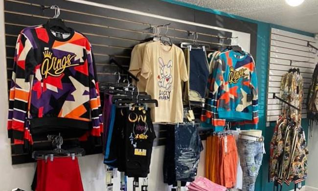 View of the inside of Xclusiiv's store