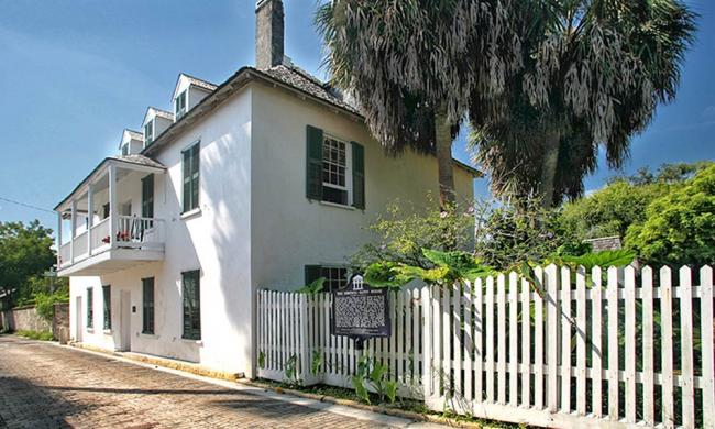 The Ximenez-Fatio House was once a fashionable boarding house in 19th-century St. Augustine.