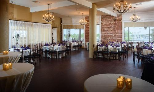A1A Ale Works' Bayview Room is an elegant choice for a wedding reception or private banquet.