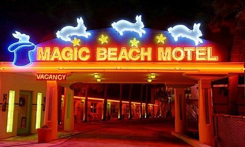Magic Beach Motel entrance