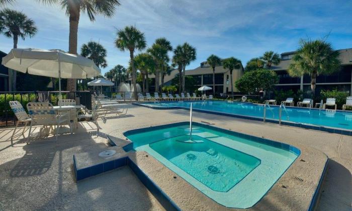 The pool at Ocean Gallery in St. Augustine Beach, Florida
