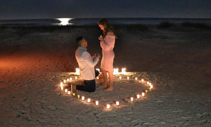 Proposal at Ocean and Racquet