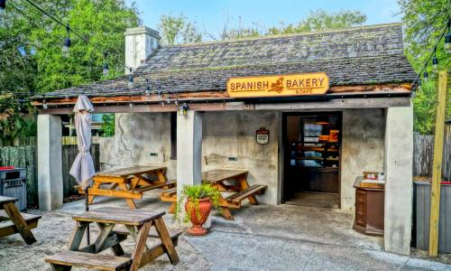 The Spanish Bakery is a local favorite in St. Augustine, tucked away in a garden just off St. George Street.