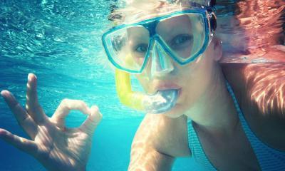 St. Augustine Aquarium Diver Underwater
