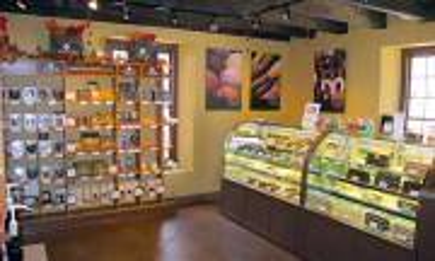 Inside Whetstone Chocolates on St. George Street
