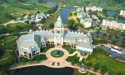 Aerial view of World Golf Hall of Fame in St. Augustine, Florida