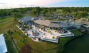 Aerial View of the Outdoor Patio and Seating at 3 Palms Grille in Ponte Vedra Beach, Florida