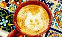 Cat face lattes and coffees at The Witty Whisker Cat Cafe in St. Augustine, Florida