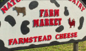 Farm Market sign for Gone Organics in Hastings, Florida