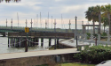 Fishing Pier at Rose of Sharon Park in downtown St. Augustine, Florida