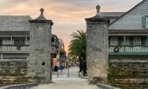 Earlier visitors entered St. Augustine through this City Gate.