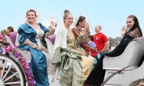 "The popular Easter Parade in St. Augustine features pirates, soldiers, horses and carriages, and the ""Royal Trio"" from 17th-century Spain."