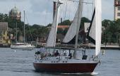 S/V Charlley, a Morgan Out Islander, sailing on the Matanzas in Sr. Augustine.