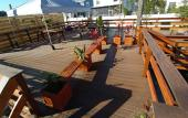 The 1500 square-foot event deck at Anastasia Miniature Golf in St. Augustine.