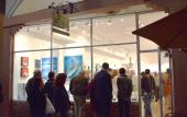 The Plum Contemporary Art Gallery during the First Friday Art Walk.