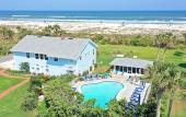 Aerial view of Beachfront Bed & Breakfast in St. Augustine Beach, Florida
