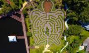 The turtle maze at Bird Island Park in Ponte Vedra, FL.