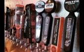 """24 Florida craft beers and 99 bottles of beer on the wall"" at Brewz 'N' Dawgz in St. Augustine, Florida."
