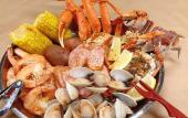 A typical feast at Cajun Crab Hut Seafood & Bar in St. Augustine, FL