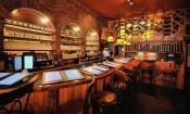 The cozy bar inside Cellar 6 on Aviles Street in St. Augustine.