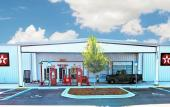The exterior of Classic Car Museum of St. Augustine is reminiscent of a filling station from the last century.