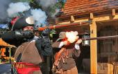 See musket firing demonstrations at the Colonial Quarter.