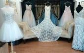 Bridal Dresses on display at Daniel Thompson Bridal in St. Augustine.