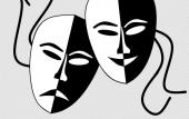 Theater Masks, created by Christian Born of Pixabay.
