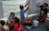 Young scientists learning about the area's waterways.