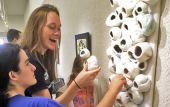 The St. Augustine Art Association's annual Tactile Art Show is organized through a partnership with the Florida School for the Deaf and the Blind.