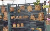 A potter's booth at a prior Art and Craft Event, coming in February and March to St. Augustine.