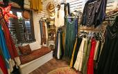 Long dresses and skirts at Gypsy Moon boutique in St. Augustine.