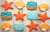 Beach themed cookies from K's Cookies St. Augustine.