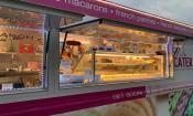 Le Macaron Food Truck window at the Village Garden Food Truck Park in St. Augustine, FL.
