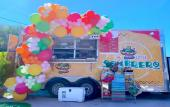 The Little Sombrero Food Truck parked at The Village Garden in St. Augustine, FL.