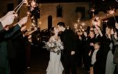 Sparkler moment made possible by Mercer & Smith Events