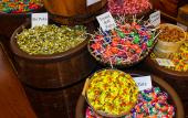 Candy baskets at Mix and Match Candy Shoppe in St. Augustine, FL.