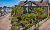 O.C. Whites Seafood & Spirits restaurant on the historic bayfront of St. Augustine, Florida.
