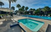 The pool at Ocean Gallery in St. Augustine Beach, Florida
