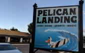 The sign for Pelican Landing on San Marco in St. Augustine.
