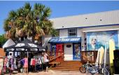 Outside of the Pit Surf Shop at beautiful Saint Augustine Beach.