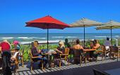 The Reef Restaurant on Vilano Beach offers spectacular beachside views of the Atlantic Ocean.