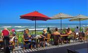 The Reef Restaurant on Vilano Beach offers spectacular beachside views of the Atlantic Ocean.