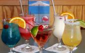 Visitors can enjoy a wide variety of exotic drink choices at Barnacle Bill's in St. Augustine.