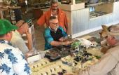 Fly-tying workshops are held regularly at Oyster Creek Outfitters in St. Augustine.