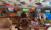 Relaxing at Slugs Pub in St. Augustine, FL.