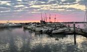 St. Augustine Municipal Marina at sunrise in St. Augustine.